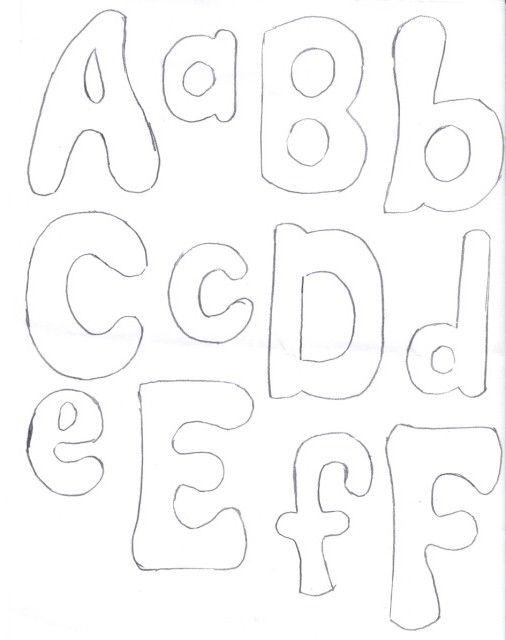Patrones de letras de fieltro - Imagui