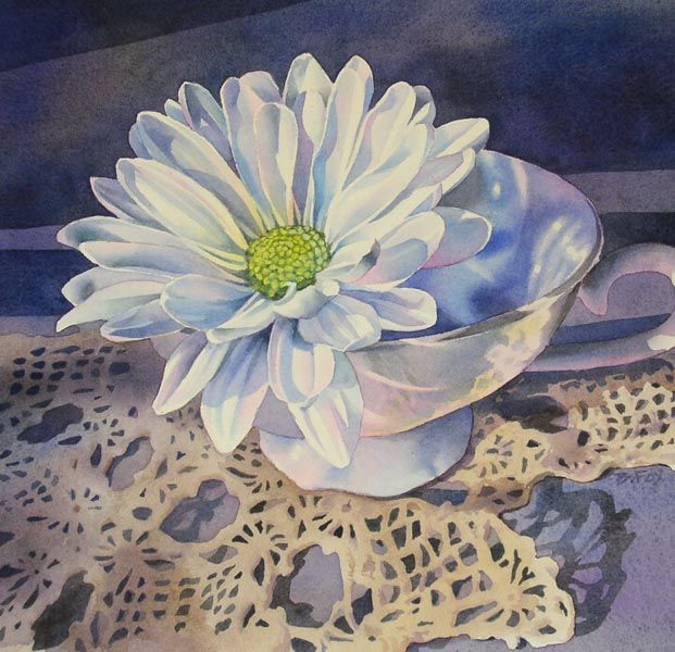 WaterColor Daisy •  I had a delightful dream last night (which nobody wants to hear about, I know) but I keep thinking about it, which leads me to other fant...