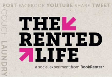 BookRenter's The Rented Life is a paid social experiment to help pay for one student's college costs in the fall semester (excluding tuition) by following them on a web-series documenting how they plan to RENT EVERYTHING for an entire semester. Think you got what it takes to live The Rented Life? Enter your video now for the chance to win! http://on.fb.me/TyriYN