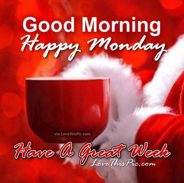 Good Morning French Greetings : Christmas good morning happy monday quote adornos