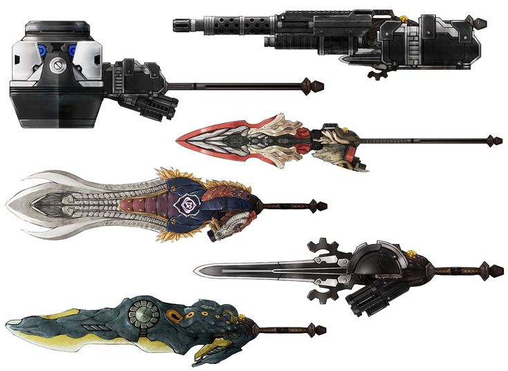 Weapons from God Eater 2