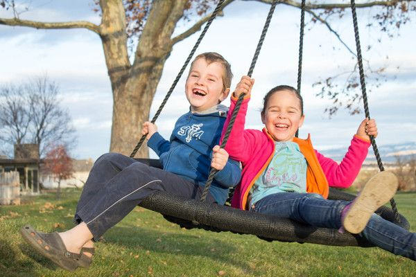 The Swing and Spin brings back the fun of a classic tire swing while providing you and your family with a safe, durable and versatile backyard pastime.