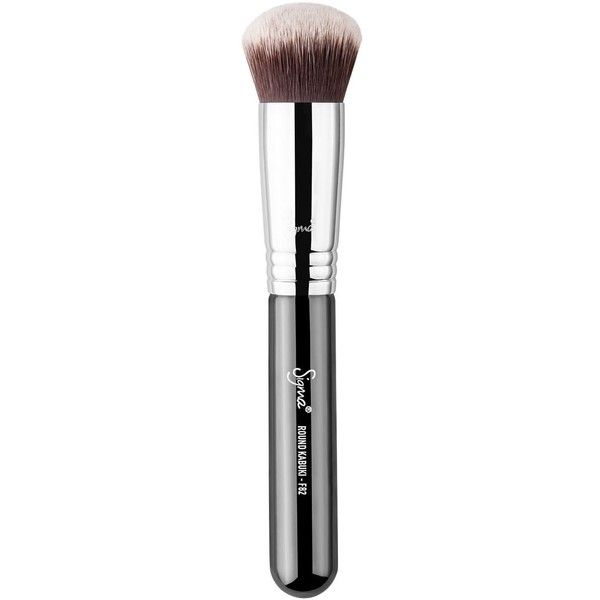 Sigma Beauty F82 Round Kabuki Brush ($25) ❤ liked on Polyvore featuring beauty products, makeup, makeup tools, makeup brushes, no color, sigma makeup brushes, sigma cosmetic brushes, barrel brush, round brush and round makeup brushes