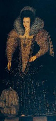 Elizabeth, Lady Throckmorton Raleigh (1565-1647) was Sir Walter Raleigh's wife, & Lady of Privy Chamber to Queen Elizabeth I of England. Their secret marriage precipitated a long period of royal disfavour for Raleigh. In1592, the couple married without royal permission. The Queen summoned Raleigh back from Panama & imprisoned both him and Bess in the Tower of London in June 1592. Sir Walter was released from the Tower in Aug 1592. Bess in Dec of 1592 and joined her husband at his Devon…