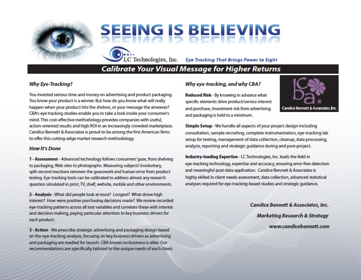 A visionary full-service marketing research firm, Candice Bennett - needs analysis