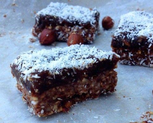 Hazelnut, Date and Cacao Slice - Yummo Paleo