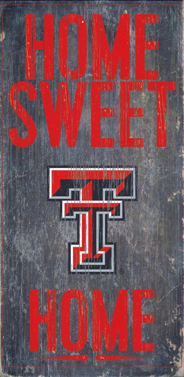 Officially Licensed Texas Tech Football Home Sweet Home Sign