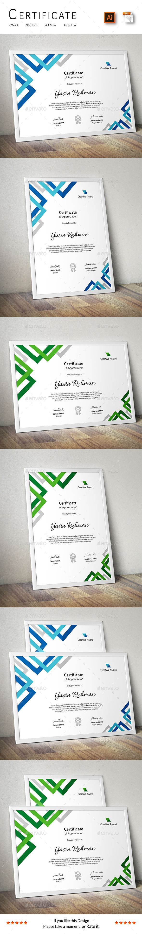 Certificate Template Vector EPS, AI. Download here: http://graphicriver.net/item/certificate/15012691?ref=ksioks