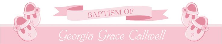 Pink Christening Personalised Banners - We Print Your Text