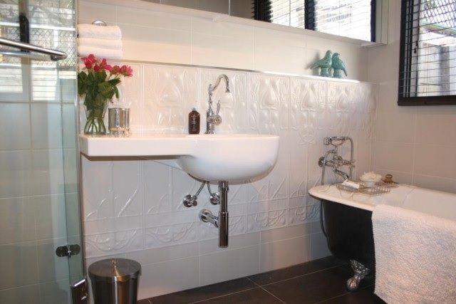 Pressed Tin Panel Bathroom Splash Back
