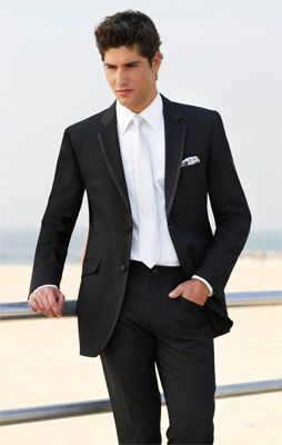 #DBBridalStyle Grooms attire black and white