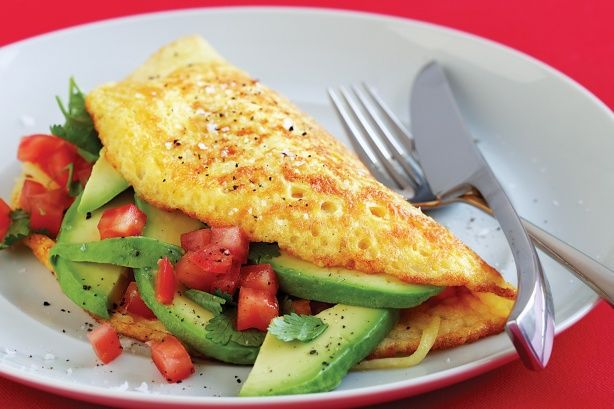 Whipped cream makes the eggs in this tasty omelette extra light and fluffy.