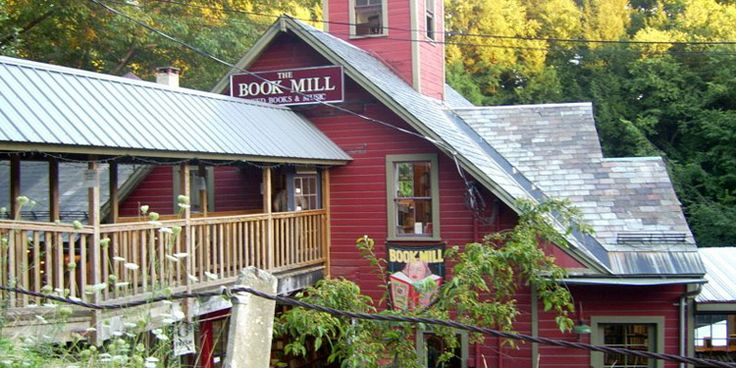 The Montague Bookmill, Montague Mass. - A great drive to a fun destination in Western Ma with, books, a cafe, art gallery, music shop on a mill stream.