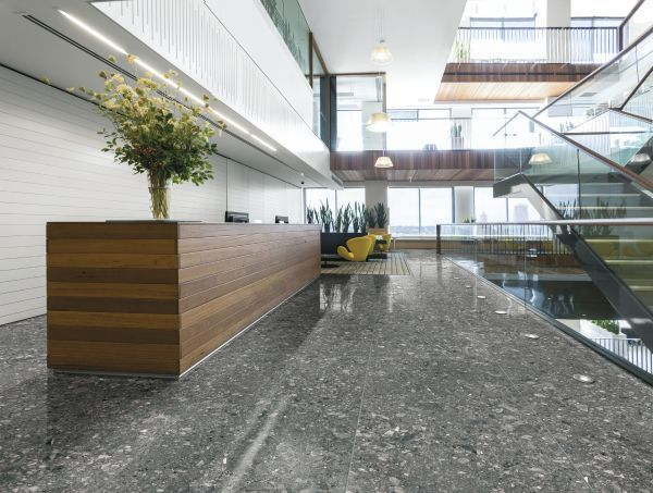 Stunning Retro Anthracite Replica Terrazzo Tiles from Italian Tile and Stone Dublin