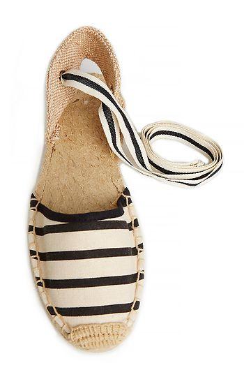 Soludos Sandal Espadrille in Black / Beige//