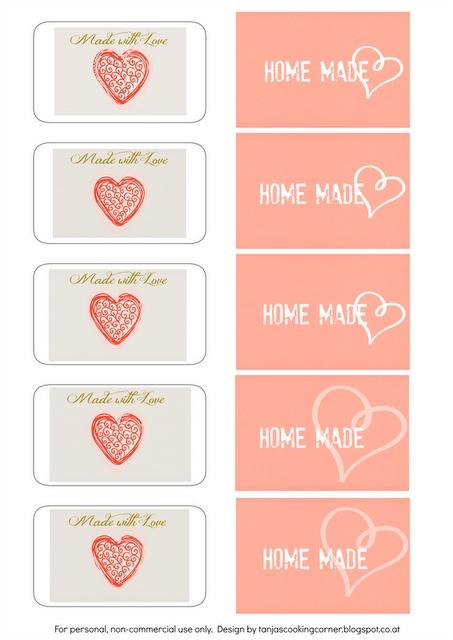 Printable jam labels & gift tags. #printables #freebies http://tanjascookingcorner.blogspot.co.at/