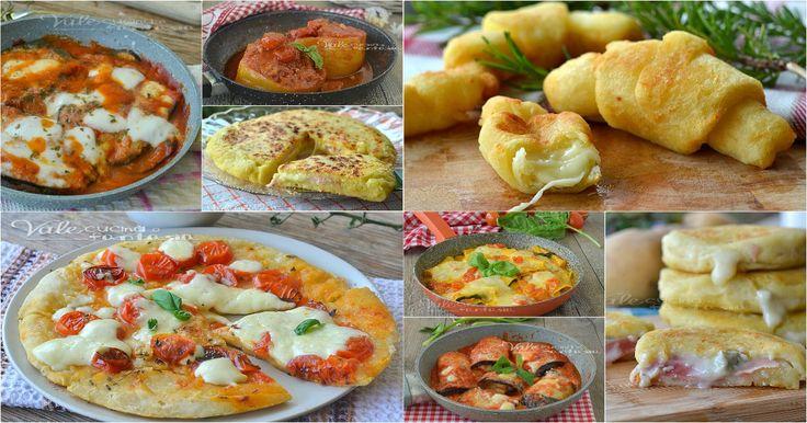 20 RICETTE SENZA FORNO e senza stress tutte facilissime, focacce,pizze,verdure ripiene,parmigiana, involtini e torte tutte cotte in padella!