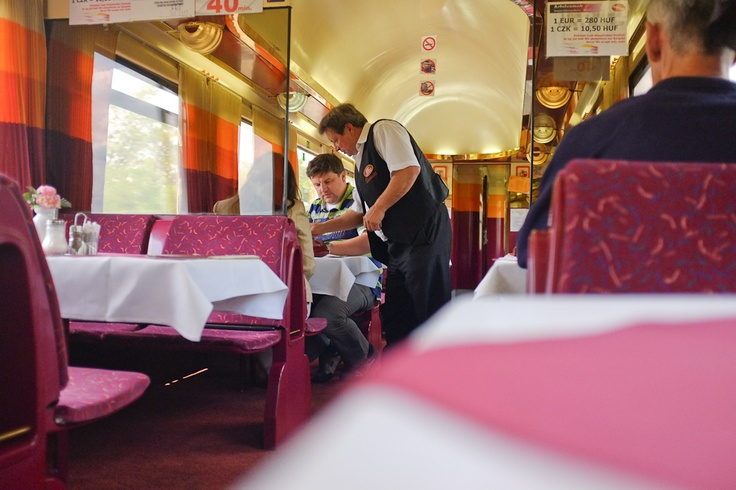 I love #people watching on the #dining #cars. The #waiters always have so much #characterTrain Travel, Training Travel, Dining Cars, People Watches