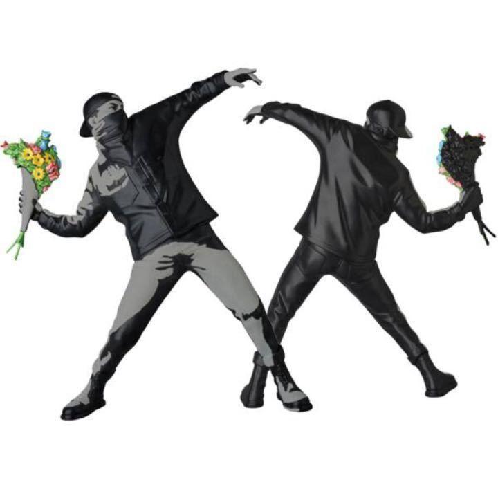 Medicom Toy Plus X Brandalism Banksy Flower Bomber Wall Image Ver Ems Japan Banksy Flowers Image