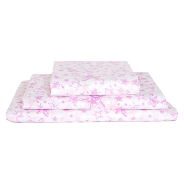 Pink Star Wishes 200TC Sheet Set by Kuviez - PSW0001