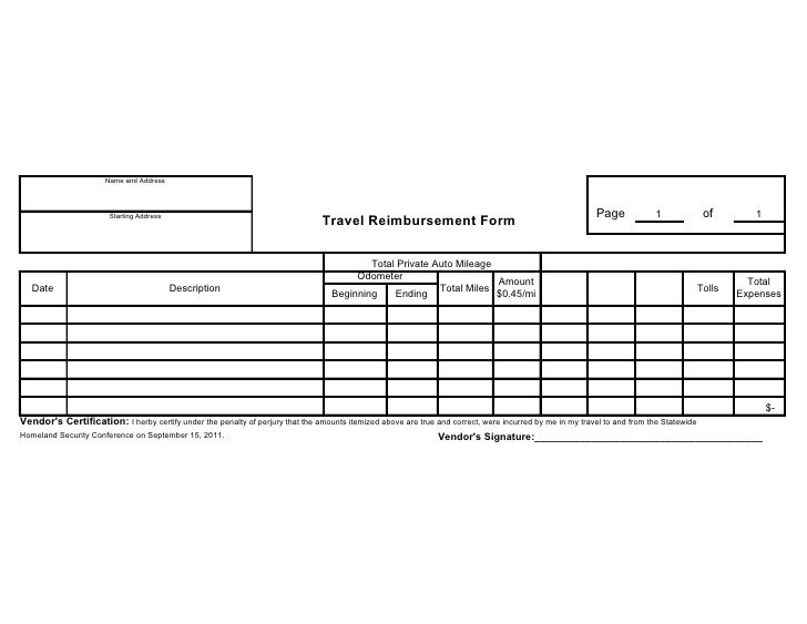 Simple Reimbursement Form template Pinterest Template