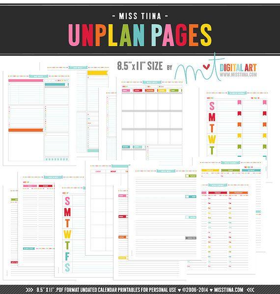 L • UNplan Planner Page Printables PDF