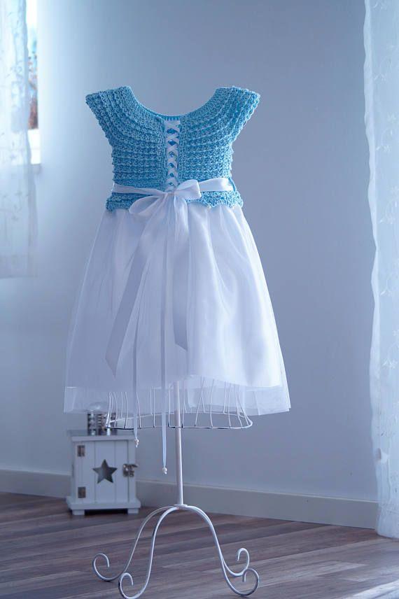Ceremony dressParty dressGirl dressCrochet girl