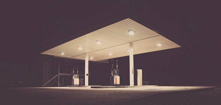 Station D'Essence, Night Time, De Carburant, Essence