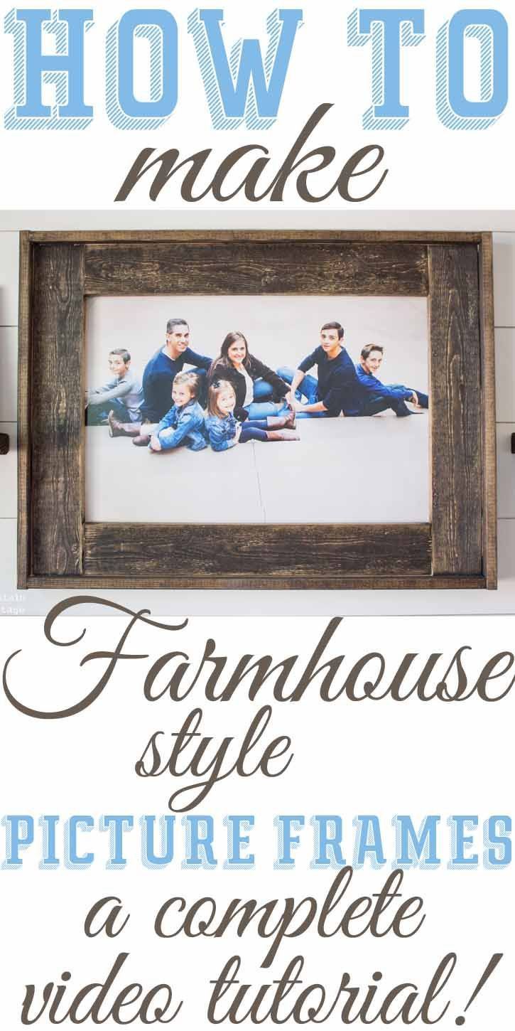 DIY Farmhouse Inspired Wood Picture Frames — The Mountain View Cottage                                                                                                                                                                                 More