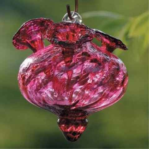 blown glass hummingbird feeder | charisma hand blown glass hummingbird feeder by birdbrain brighten up ...