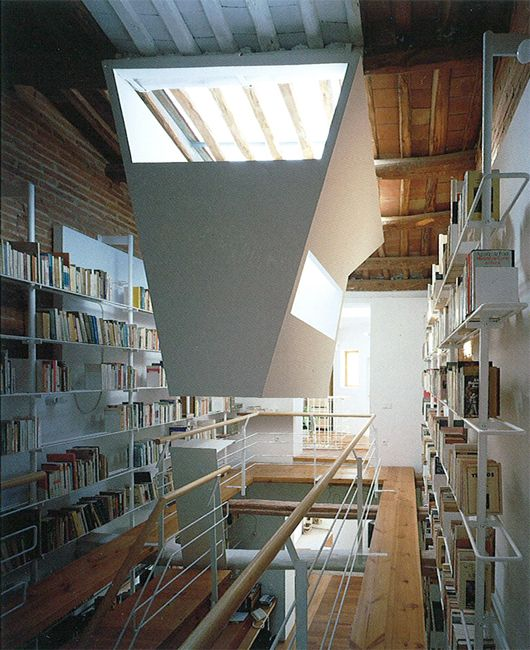 Enric Miralles --- I want a home where I can have one room dedicated to just books.