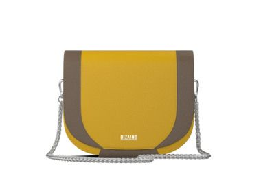 Amy - saddle bag in empire yellow and caffe latte colors!
