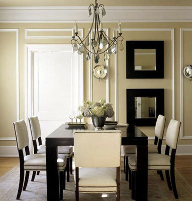 beautiful applied mouldings in this dining room - Moulding Designs For Walls