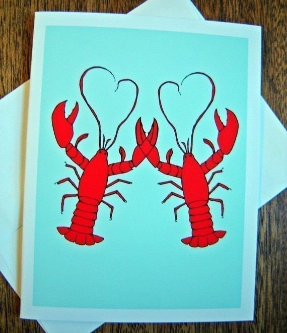 He's her lobster | @Stacey McKenzie Mitchell thought you'd love this!