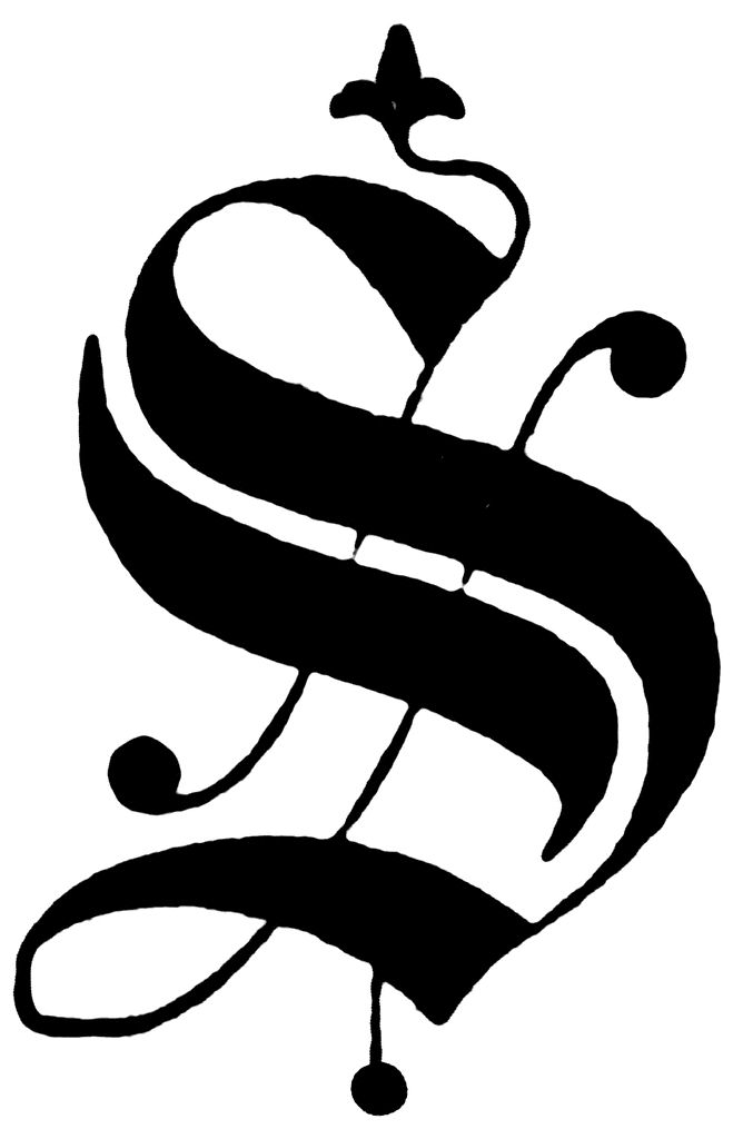 S, Old English fancy text | ClipArt ETC