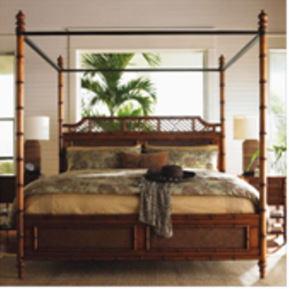 Caribbean Style Bedroom British Colonial With Army Window And Tropical Tree
