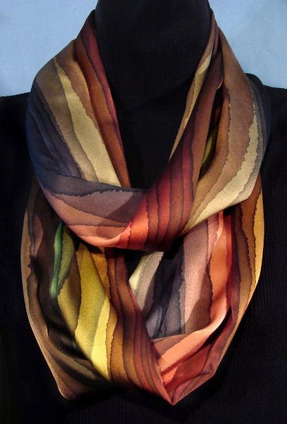Scrumptious colors! It's on my list to learn how to create those beautiful gradiations to dark between colors Striped Infinity Loop Scarves