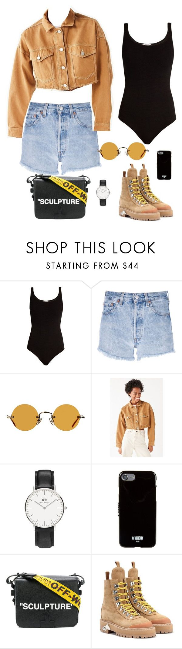 """Untitled #196"" by carolina11297 ❤ liked on Polyvore featuring Wolford, Levi's, Hakusan, Urban Outfitters, Daniel Wellington, Givenchy and Off-White"