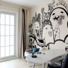 Graffiti wall - 15 Unique Wall Painting Ideas | www.homeology.co.za     #decor #interiors #upcycle #renovate #homedecor #beautifulhome #painting #inspiration