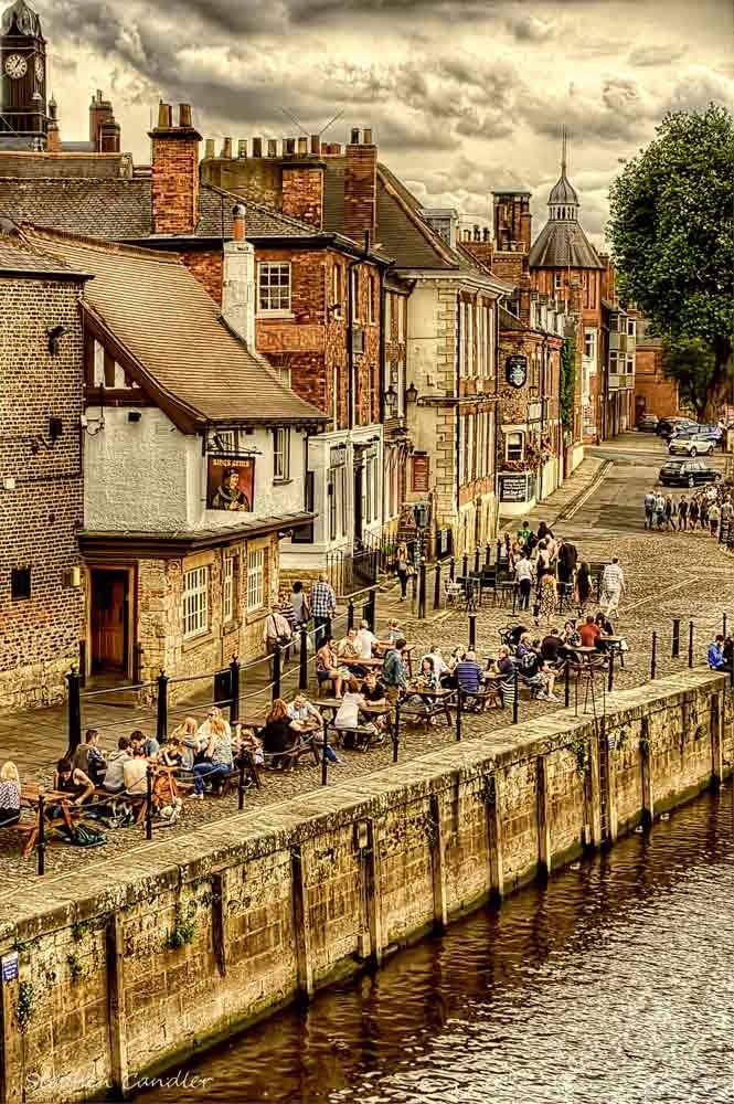 View from Ouse Bridge of Kings Staith in York, North Yorkshire, England
