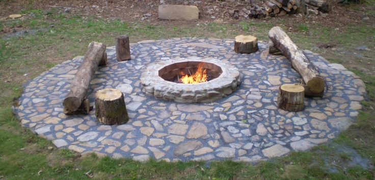 Pin by matt maloney on backyard inspiration pinterest for Cheap easy fire pit ideas