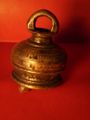 §§§  Cloche de vache en bronze , Rajasthan , Inde §§§ 6 in Art, antiquités, Objets du XIXème, et avant | eBay