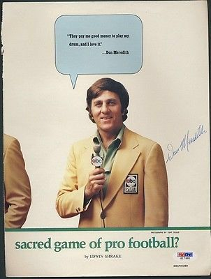 Don Meredith, Monday Night Football announcer