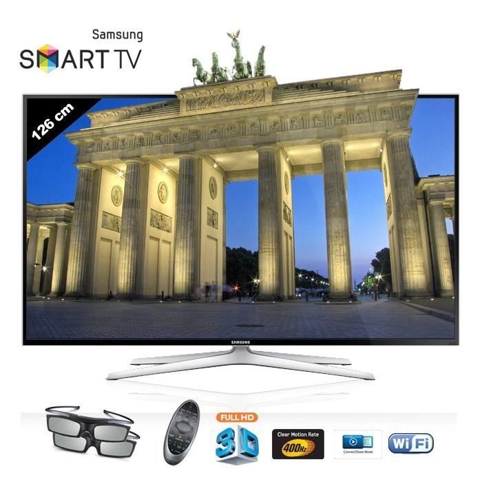 Tv led 3D Cdiscount,, achat pas cher SAMSUNG UE 50H6400 LED TV 3D Smart TV prix promo Cdiscount 759.99 € TTC