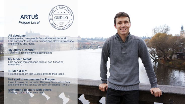 Experience #Prague the #local way with our local expert Artuš. Beyond bombarding you with a bunch of information, he provides a glimpse into the #Czech #lifestyle. From his favorite spots to the most beautiful walks, he will share his love for the city with you. Learn more Hidden #Passages http://goo.gl/Fi7YWN, discover the most magnificent #views of the city: http://goo.gl/sRgdpQ and explore the amazing #ArtNouveau #architecture: http://goo.gl/guhFTO.