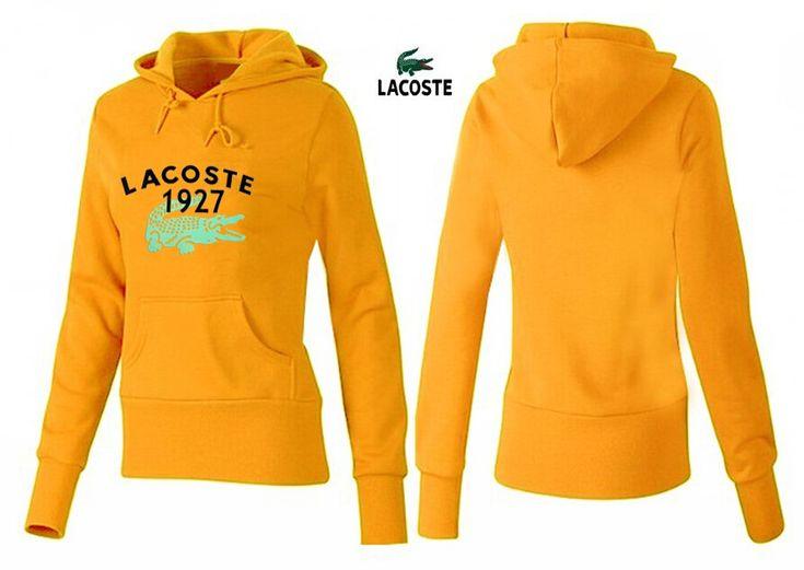 Lacoste polo women hoodies 1927 orange yellow