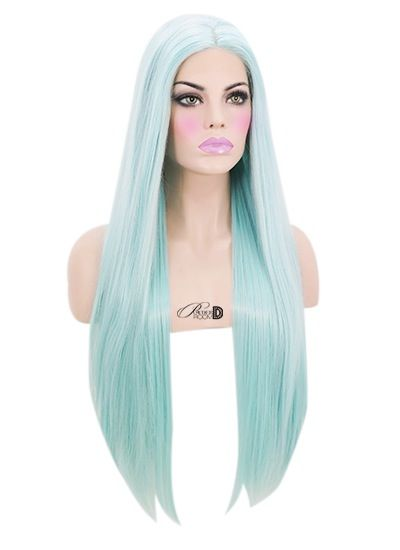 "Heat safe synthetic Lace Front wig 24"" long 150-180% density Made of soft synthetic fiber Can be styled with hot tools on a low-medium temperature ..."