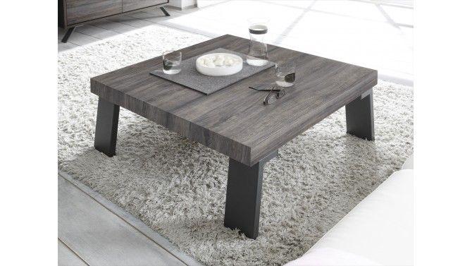 Table de salon carrée wengée - Kérop