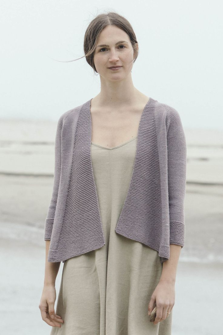 andromeda cardigan by pam allen / from the tern 2016 collection / in quince & co. tern, color dusk