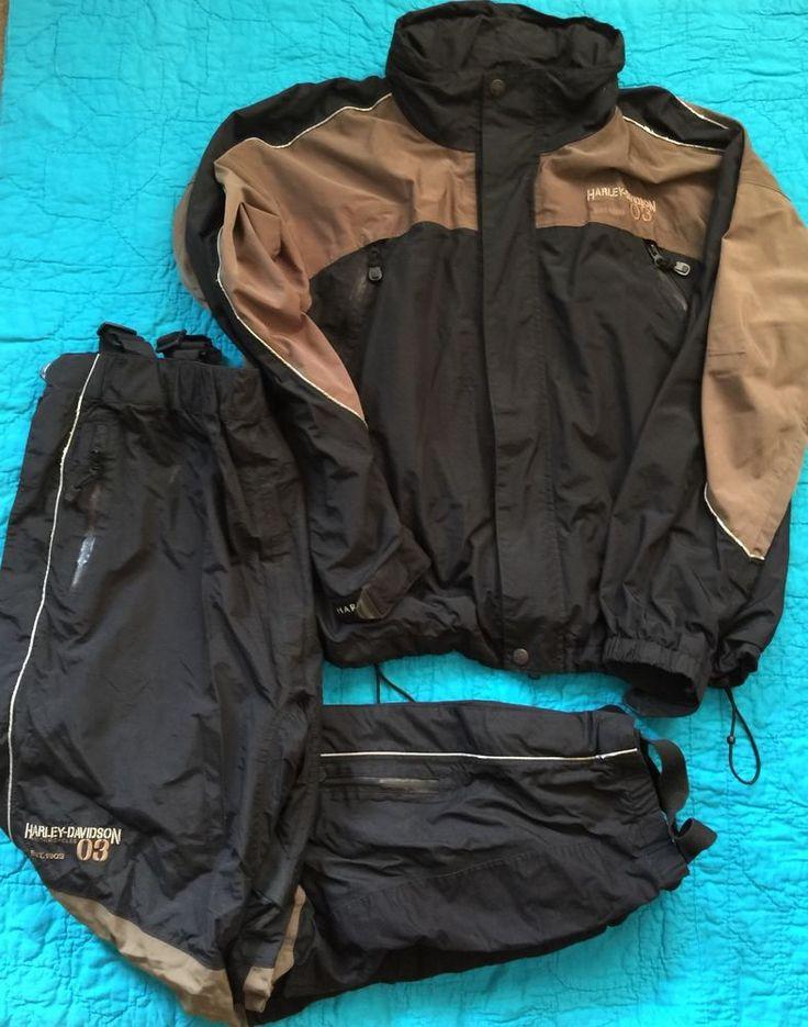 Harley Davidson Mens XL Rain Gear Rainsuit  | eBay